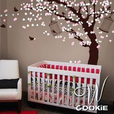 Cherry Blossom Tree  - Nursery Wall Decal. via Etsy.
