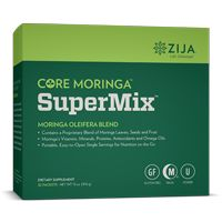 SuperMix is a delicious and convenient powdered beverage that can be added to water for a daily dose of Moringa's 90+ vitamins, minerals, vital proteins, antioxidants, omega oils, and other benefits.