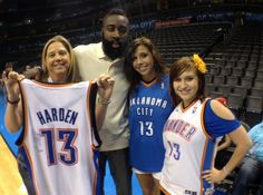 Fans like these ladies helped the Thunder Cares Foundation raise more than $ 15,000 for the YWCA of OKC as they seek to expand their shelter for battered women and children. Additional thanks to James Harden for supporting this great cause!