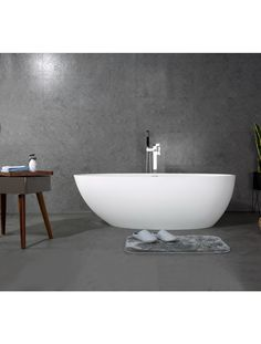 Matte white solid surface bathtub by prodigg bathrooms. Available in 1500mm 1700mm 1850mm. Square Bathtub, Small Bathtub, Stone Bathtub, Cast Iron Bathtub, Bath Tubs, Solid Surface, Bathrooms, Design, Stone Tub
