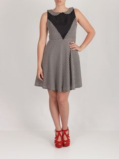 Vestido falda de capa pata de gallo #dress