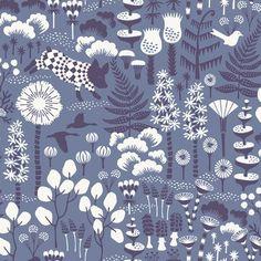 "Brewster Home Fashions Wonderland Hoppet 33' x 21"" Wallpaper Roll Color: Blue"