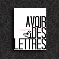 Avoir des Lettres  Well Read  Art Print 8x10 by TheSilverSpider, $15.00
