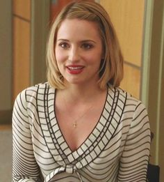 Quinn Fabray in Tory Burch Blouse #Glee