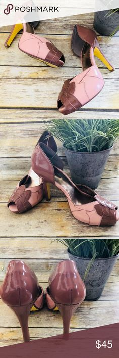 Anthropologie Poetic License Feel The Rhythm Pumps These beautiful 'Feel The Rhythm' platform pumps are made by Poetic License London for Anthropologie. They are sort of mauvy brown patent leather with light pink The detail work is super pretty and very vintage inspired.  In good preowned condition.  Women's 38. Anthropologie Shoes Heels