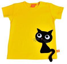 Lipfish gul t-shirt Katten
