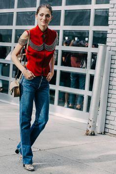 Street looks à la Fashion Week printemps-été 2016 spécial Jean denim fashion, denim street style