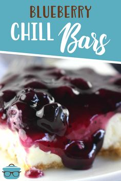 No-Bake Blueberry Chill Bars are a recipe straight from Grandma. Vanilla wafers, sweetened cream cheese and blueberry pie filling!
