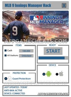 Mlb 9 innings manager hack tips amp cheats for cash amp all stadiums