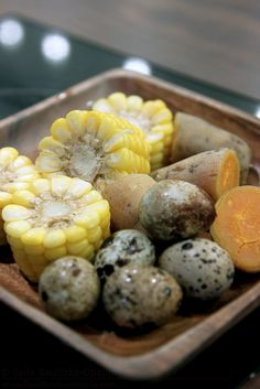 Bulgogi Brothers corn quail eggs and sweet potatoes