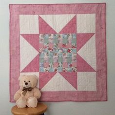 Handmade Baby Quilt, Baby Girl Quilt, Baby Shower Gift, Pink Quilt, Baby Blanket, Toddler Quilt, Patchwork, Baby Christmas, Nursery Bedding Baby Quilts Easy, Baby Patchwork Quilt, Pink Quilts, Baby Girl Quilts, Quilt Baby, Girls Quilts, Handmade Baby Items, Handmade Baby Quilts, Quilting Designs
