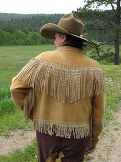 Old Trading Post – Apache Territory Twisted Fringe Deerskin Leather Coat