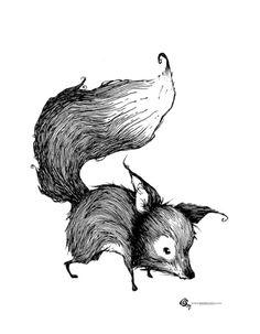 Fox Art Print by Ben BASSO | Society6