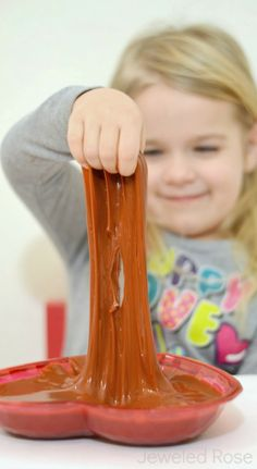 Chocolate Slime Recipe for play- SO FUN!