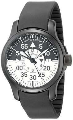 336055b503f Amazon.com  Fortis Men s 672.18.11 K B-42 Flieger Black Cockpit GMT  Stainless Steel Watch  Watches