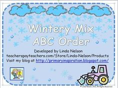 Free ABC order, with a winter theme