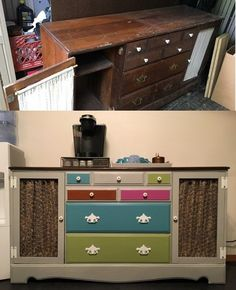 My husband and I love to repurpose old furniture, making it new again.  We had this dresser in storage and I just couldn't decide on how I wanted to finish it.…
