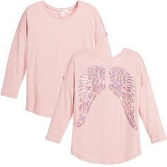 ANGEL'S FACE Girls Pink Angel Wing Top