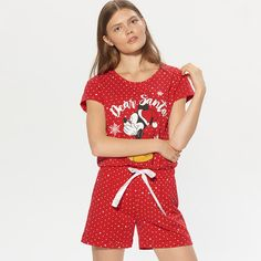 Cropp - Pyžamo Mickey Mouse - Červená Disney Style, Boho Shorts, Mickey Mouse, Rompers, Disney Fashion, My Style, Dresses, Women, Jumpsuits