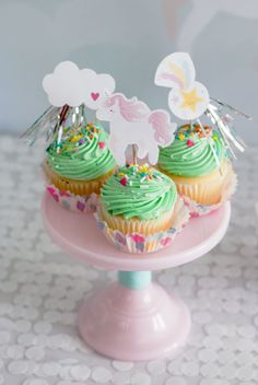 Project Nursery - Unicorn Cupcake Toppers
