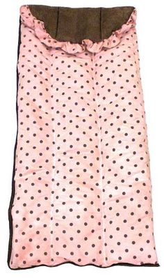 """Dots Pink Girls Sleeping Bag by Hoohobbers. Made in the USA, you can order a matching doll size sleeping bag to match. Our Dots Pink Kids sleeping bags are extra soft and super plush. Hoohobbers sleeping bags are over 2 1/2"""" thick, comprised of 100% cotton fabric and designer fabric lined with soft, double-brushed, 100% cotton flannel."""