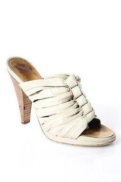 Giuseppe Zanotti Design Tan Leather Knotted Strap Platform Sandals Size 36.5 6.5