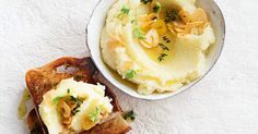 Combine garlic, potatoes and a touch of vinegar for a traditional Greek-inspired mashed potato recipe.