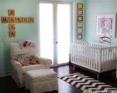 A Modern Twin Nursery Design by Papery & Cakery