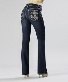 Another great find on #zulily! Indigo Velencia Bootcut Jeans by Tru Luxe Jeans #zulilyfinds