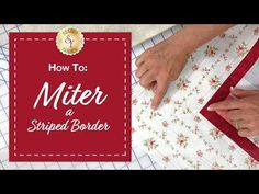How to Mitre the corners on a Quilt Border - Quilting Tips & Techniques 168 Quilting Tips, Quilting Tutorials, Machine Quilting, Quilting Projects, Sewing Tutorials, Quilting Board, Video Tutorials, Sewing Ideas, Quilt Corners