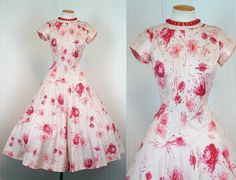 50's full circle skirt dress