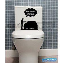 Adesivo de parede decorativos banheiro Tanque