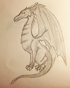 My first dragon ! #drawing #traditionnaldrawing #art #creature #wip #dragon #passion