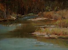 Color in the Marsh by Alice Hauser Oil ~ 9 x 12