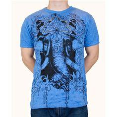 Blue Ganesh Tshirt Bollywood, Marigold, Ganesh, Belle Photo, India, My Love, How To Make, Mens Tops, T Shirt