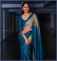Anasuya Bharadwaj Beautiful HD Photos & Mobile Wallpapers HD (Android/iPhone) (1080p) - #31570 #anasuyabharadwaj #actress #televisionactress #tollywood #hdimages Saree Wearing Styles, Saree Styles, Satin Saree, Tussar Silk Saree, Fancy Sarees, Party Wear Sarees, Saree Blouse Neck Designs, Blouse Designs, Sneha Actress