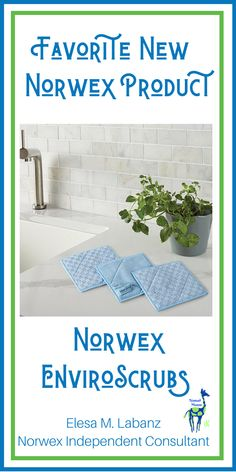 "Pack of 3 6""x6"" Microfiber Scrub Cloths // Microfiber // Cleaning // Nontoxic // Norwex // Cleaning Hacks // microfiber cleaning cloths"