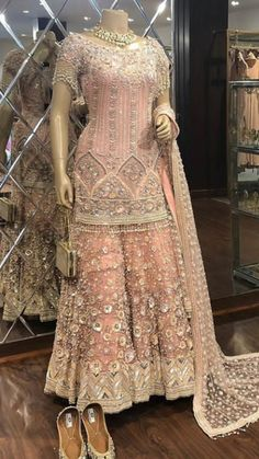 Beautiful Kurti with Sharara. Embellished with hand embroidery work. Superb detailing and placement of embroidery for this wedding. New Wedding Dress Indian, Pakistani Wedding Outfits, Pakistani Bridal Wear, Bridal Outfits, Wedding Sarees, Bridal Lehenga, Wedding Gowns, Stylish Dress Designs, Stylish Dresses