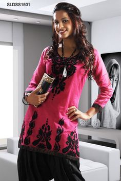 $79 Pink Embroidered Patiala Suit From Cbazaar