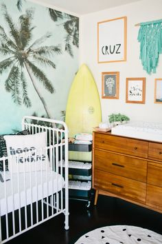 A beach inspired baby boy nursery designed by Beijos Event's Jacquelyn Kazas for her son Cruz John.