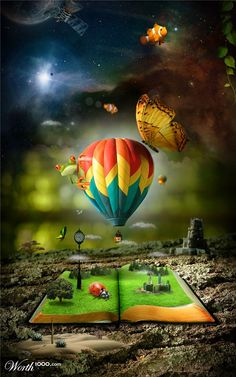 photo manipulation hot air balloon scenery (Webneel Daily Graphics Inspiration 510 - Most Inspired Graphics around the web). Read Full article: http://webneel.com/30-creative-and-incredible-photo-manipulation-works-done-adobe-photoshop | more http://webneel.com/daily . Follow us www.pinterest.com/webneel