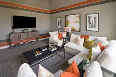 Media Room in Highland Homes 292 Plan at 2923 Crawford Drive, Katy, TX in the Cane Island community Media Rooms, Highland Homes, Model Homes, Home Builders, House Plans, New Homes, Texas, Community, Couch