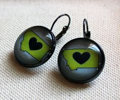 Montana LOVE earrings by WarbleswithBella on Etsy