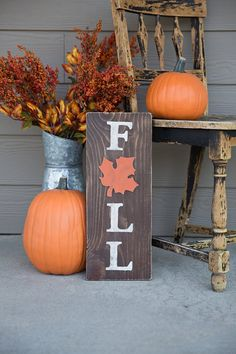 Fall Sign - Fall Decor - Rustic Home Decor - Wood Signs - Farmhouse Decor - Fall - Wall Decor. Fall Sign - Fall Decor - Rustic Home Decor - Wood Signs - Farmhouse Decor - Fall - Wall Decor - Home, Fall Home Decor, Autumn Home, Front Porch Fall Decor, Fall Entryway Decor, Fall Porches, Rustic Fall Decor, Home Decoracion, Fall Signs, Porch Decorating