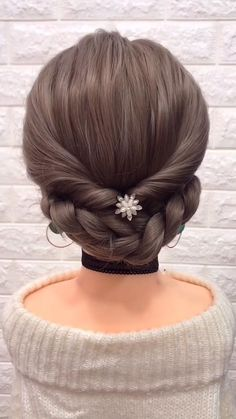 12 Tutorials Braid Hair You Can Do Yourself Part 2 – beautiful hair styles for wedding Step By Step Hairstyles, Easy Hairstyles For Long Hair, Braids For Long Hair, Diy Hairstyles, Pretty Hairstyles, Hairstyle Tutorials, Hairstyles Videos, Long Hair Dos, Kids Short Hair