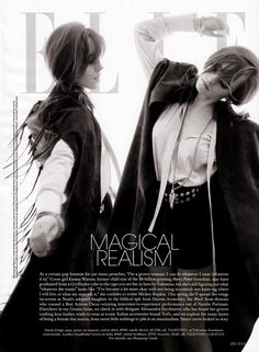 The Reappearing Act (Magical Realism) Elle (USA) - April 2014 PH: Carter Smith