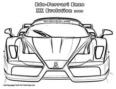25 Sports Car Coloring Pages For Children | Printable Coloring Pages