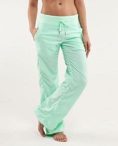 Lululemon Studio Pant II *No Liner - Fresh Teal - lulu fanatics I Need U, Workout Attire, Workout Gear, Athletic Outfits, Athletic Clothes, Athletic Wear, Facon, Sports Women, Fitness Fashion