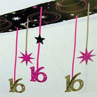Sweet 16 Sparkle Ceiling Foil Decoration