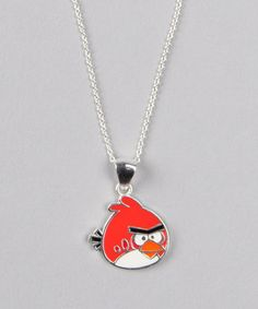 Take a look at this Sterling Silver Angry Birds Necklace by Jewelry with Character Collection on #zulily today!